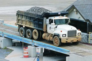 steel bridge dump truck scale