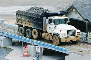 steel bridge dump truck scale